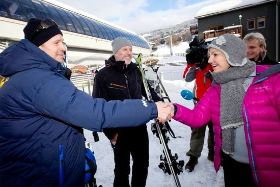 Kjus, Furuseth og OL-direktør Eli Grimsby