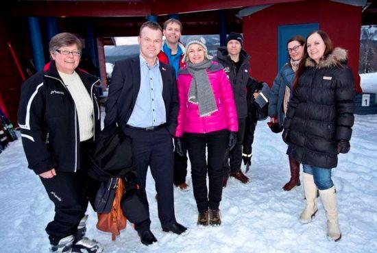 OL-direktør og lokale ordførere i Hafjell