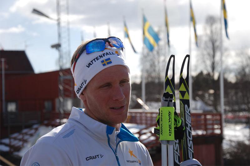 Daniel Richardsson skadades och en vän dock i en bilolycka på söndagen. Här är Daniel efter världscupfinalen i Falun i våras. FOTO: Linus Trygg.