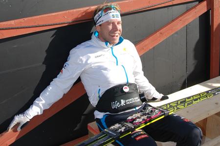 Emil Jönsson pustar ut i solen efter sin bästa säsong. FOTO: Linus Trygg.
