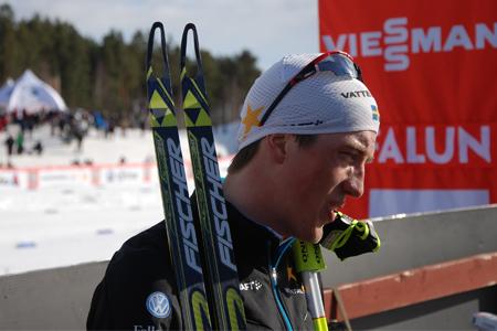 Säsongen är över för en slutkört Calle Halfvarsson. FOTO: Johan Trygg.