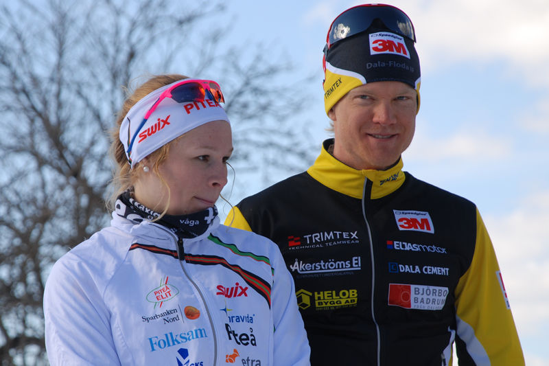 Jennie Öberg och Jens Eriksson tog hem Vårpoffen. FOTO: Hans Runeson.