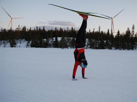 Julia Svan kan också föreställa vindkraftverk. FOTO: Hans Runeson.