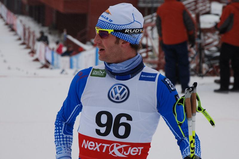 Anders Södergren står utanför landslaget inför kommande säsong. Till helgen testar han formen i Torsby mot många av landslagsåkarna. Här vid SM i Falun  i vintras. FOTO: Johan Trygg.