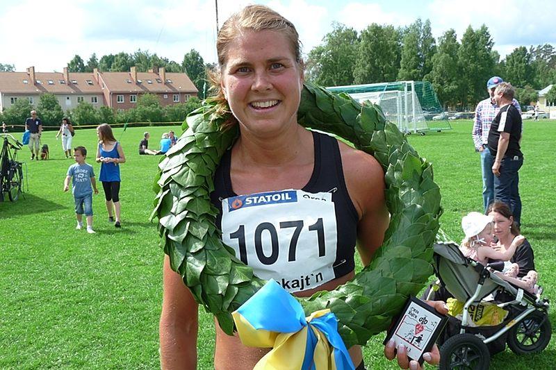 Anna-Karin Strömstedt springer Fjällmaraton Sälen i slutet på augusti. Här efter seger i Orsakajt´n på midsommarafton. FOTO: Johan Trygg.