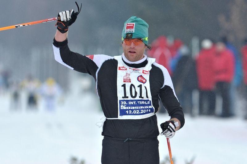 Thomas Steurer åker Alliansloppet. Här vid tredjeplatsen i Koasa Lauf 2001. FOTO: Felgenhauer/NordicFocus.