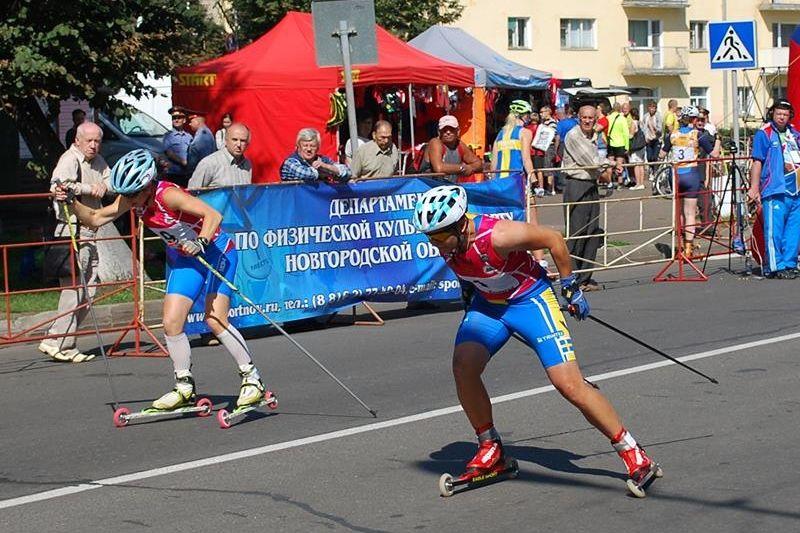 Maria Magnusson tog en fin andraplats på sprinten i Novogorod under lördagen. FOTO: Johan Ericson.