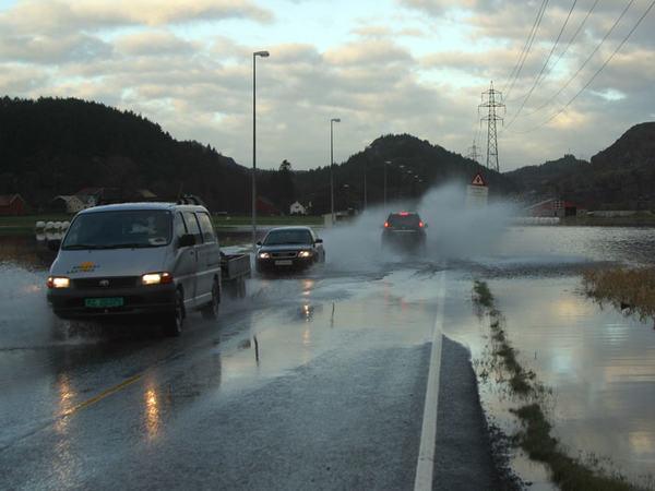 Flom og regn i Eigersund kommune