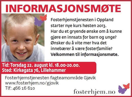 Plakat fosterhjem 2013