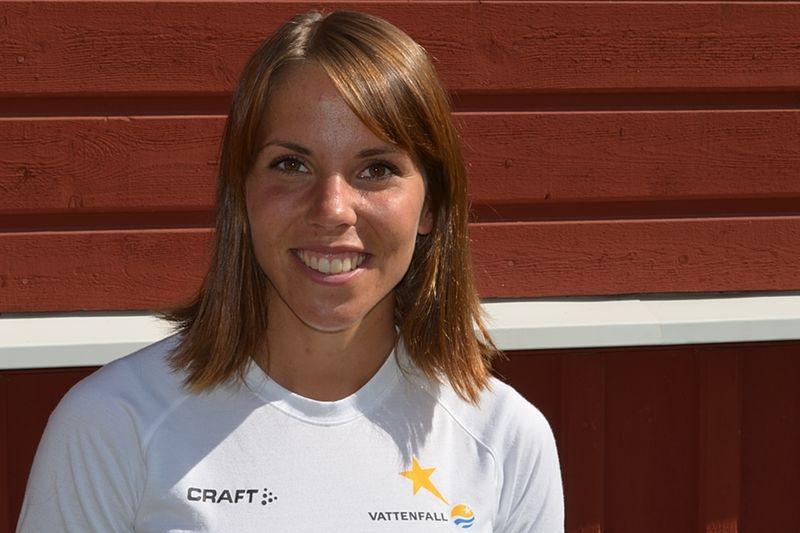 Charlotte Kalla har haft en fin sommar i det fina vädret. FOTO: Johan Trygg.