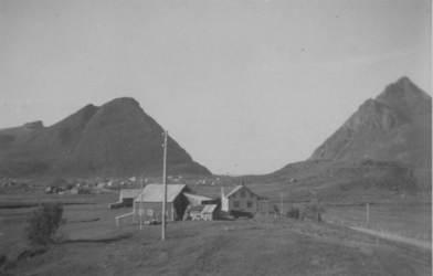 Fra Øyjord ca. 1950 Originalbildet er lånt av Tore Enoksen