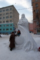 Snow sculpture in Murmansk