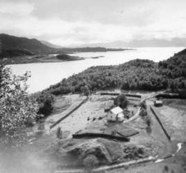Elvebakken, Klaksjord ca. 1960 Originalbildet er lånt av Johan Johansen