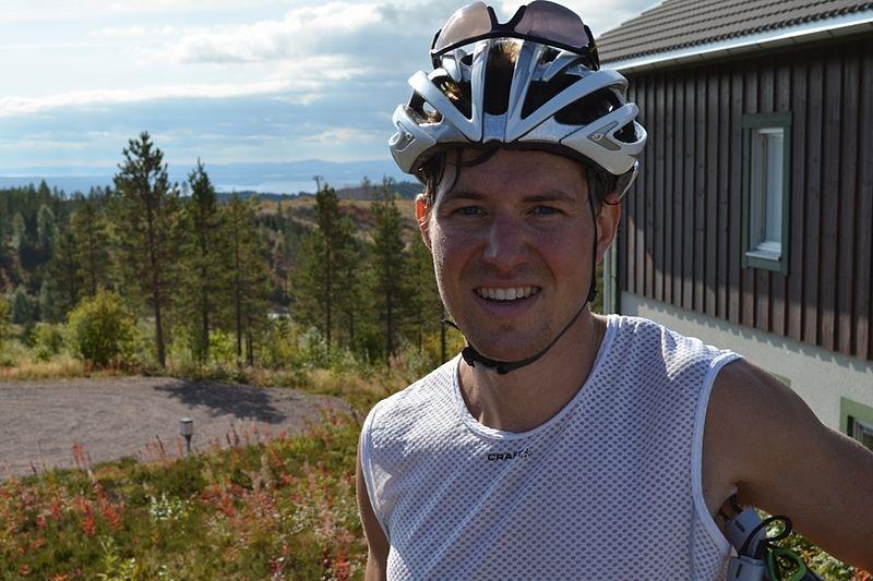 Martin Johansson slog rekord i norskt motbakkelöp på lördagen. Här är Martin vid Team 2015:s läger i Grönklitt häromveckan. FOTO: Johan Trygg.