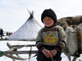 Nenets boy and his laavo