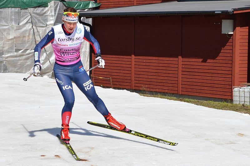 Emma Wikén och de andra i landslaget möttes av stora mängder snö i Livigno. Här är Emma vid Torsby ski festival i somras. FOTO: Johan Trygg.
