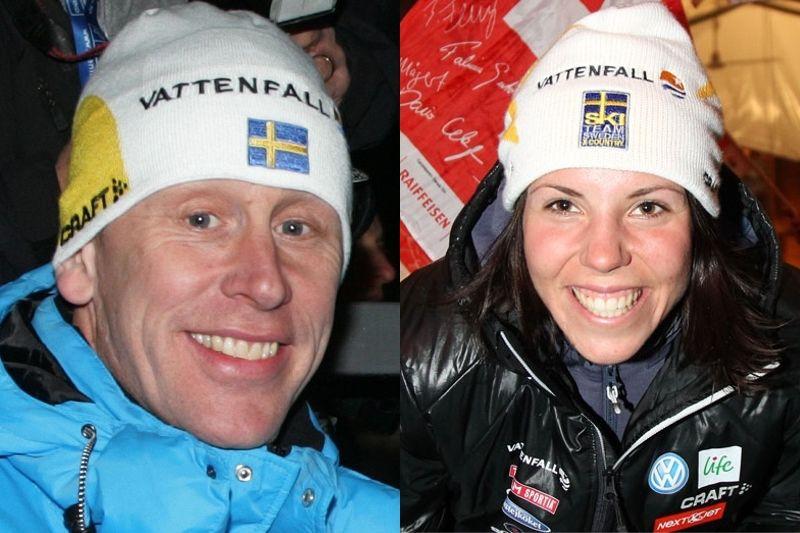 Gunde Svan eller Charlotte Kalla? Det är frågan 20.00 i kväll. FOTO: NordicFocus.