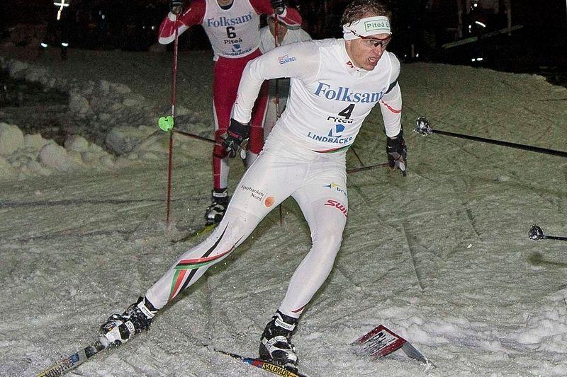 Johan Westerlund, Piteå Elit, mot segern i förra årets upplaga av BDX-sprinten. FOTO: Kurt Lundberg.