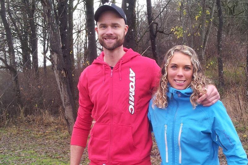 Samuel Norlén och Sandra Hansson avslutade rullskidsäsongen med seger i Kungälv. FOTO: Julia Zeitz.