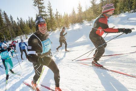 Årefjällsloppet fortsätter sitt samarbete med norska affärstidningen Dagens Næringsliv. FOTO: Årefjällsloppet.