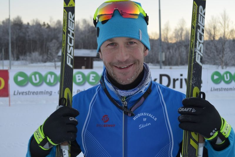 Anders Södergren vann fem sekunder före Martin Johansson över 15 km skejt. FOTO: Johan Trygg.