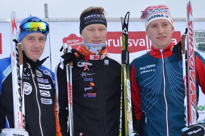 Marcus Ruus, Oskar Svensson och Simon Lageson. Dagens topp tre i H 17-20. FOTO: Johan Trygg.