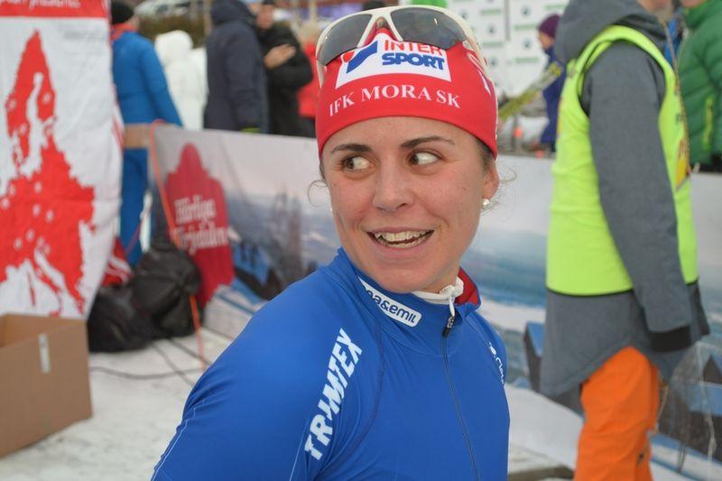 Anna Haag missar tävlingarna i Kuusamo på grund av förkylning. FOTO: Johan Trygg.