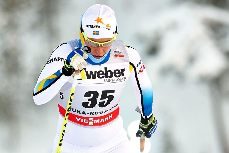 Ida Ingemardotter in som sexa i dagens sprint i Kuusamo. FOTO: Felgenhauer/NordicFocus.