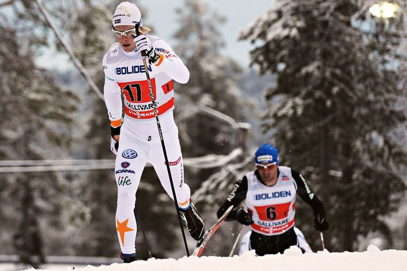 Lars Nelson åkte in som elva och bäste svensk i Kuusamo. FOTO: Felgenhauer/NordicFocus.
