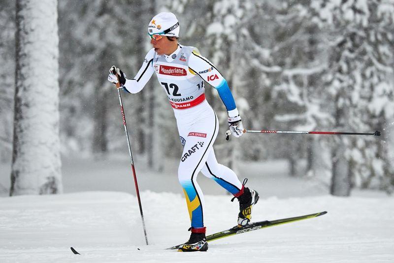 Charlotte Kalla har ett spännande utgångsläge i söndagens jaktstart. FOTO: Felgenhauer/NordicFocus.