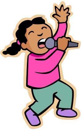 Jente med mikrofon