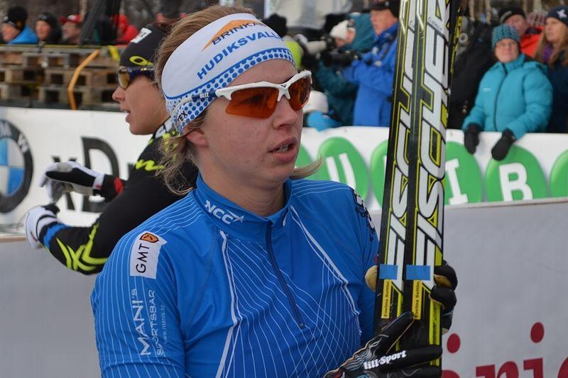 Evelina Settlin åkte in som trea i Skandinaviska cupen, Voukatti. FOTO: Johan Trygg.