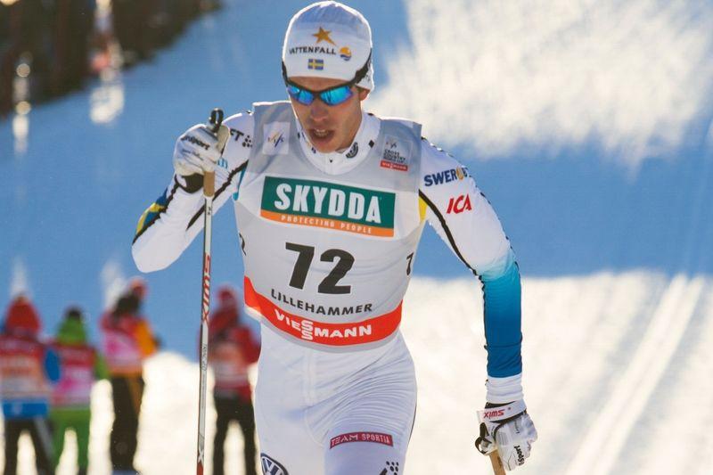 Marcus Hellner in som fin fyra på 15 km klassiskt i Lillehammer. FOTO: Manzoni/NordicFocus.