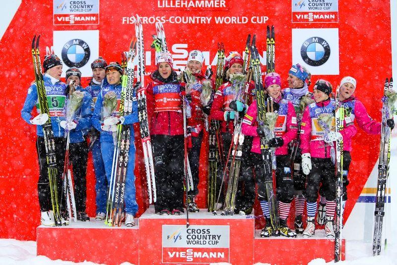 Finland, Norge och USA på pallen. Sverige slutade sexa. FOTO: Laiho/NordicFocus.
