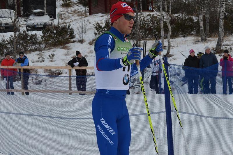 IFK Moras Martin Johansson var nära världscuplaget till Davos. Han var fem sekunder bakom Anders Södergren i söndags. Nu åker Martin Skandinavisk Cup i Finland istället. FOTO: Johan Trygg.