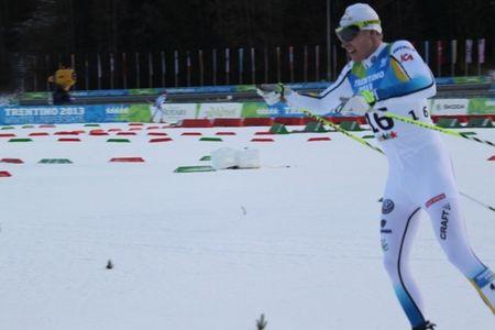 Lars Suther blev 13:e man på Universiandens öppningsdistans, skiathlon. FOTO: Sveriges Akademiska Idrottsförbund.