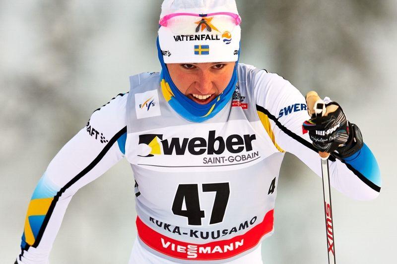 Magdalena Pajala åkte starkt vid dagens sprinttävlingar i Kuusamo. FOTO: Felgenhauer/NordicFocus.