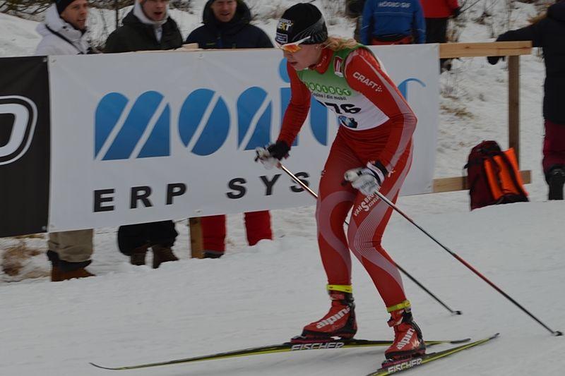 Julia Svan nära seger i Skandinaviska cupen i Finland. FOTO: Johan Trygg.