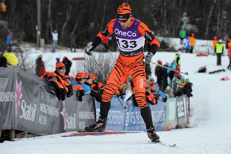 En svensk tiger. Jörgen Brink blev bäste svensk på 15 km vid Skandinaviska Cupen i Voukatti. FOTO: Team LeasePlan Go.