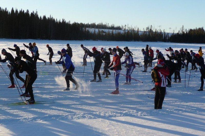 Hälsingeleden kommer genomföras med slingor i vinterparadiset Harsa på söndag. FOTO: Hälsingeleden på skidor.