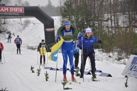 Hemmafavoriten Oskar Lund segrade i Rallarloppet. FOTO: Rallarloppet.
