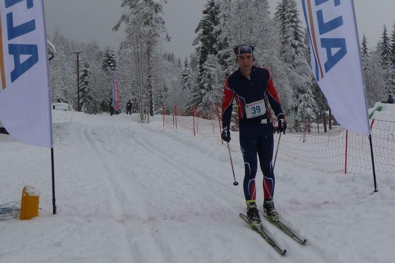 Tom Ankerstål var snabbast i Hälsingeleden på skidor. FOTO: Hälsingeleden på skidor.
