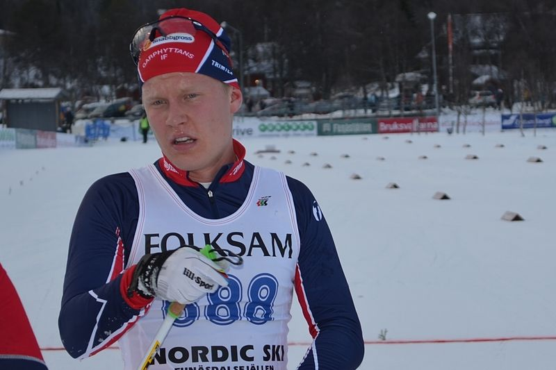 Axel Ekström förde upp Garphyttan i ledningen på andra sträckan på JSM-stafetten. FOTO: Johan Trygg.