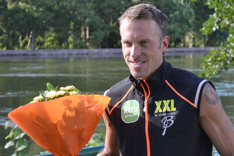 Anders Aukland satsar på att komma tillbaka till toppen effter sin skada, men är osäker på om han klarar det. Här är han efter segern i Alliansloppet 2013. FOTO: Johan Trygg/Längd.se.