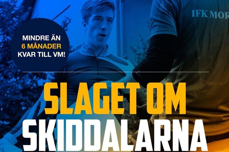 Här är Calle Halfvarsson i kamp mot Victor Gustafsson vid förra årets upplaga av slaget om skid-Dalarna. Nästa helg smäller det igen.