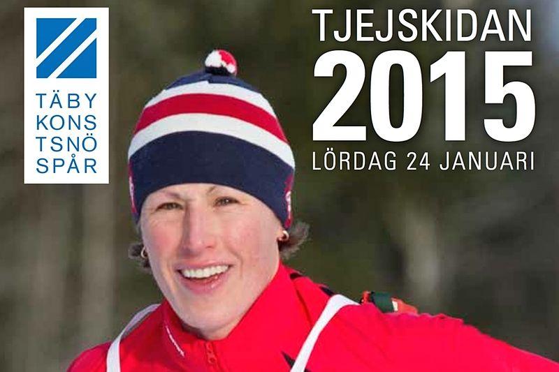 Malin Ewerlöf Krepp trivs i skidspåret och åker Tjejskidan 2015 på Täby Konstsnöspår.
