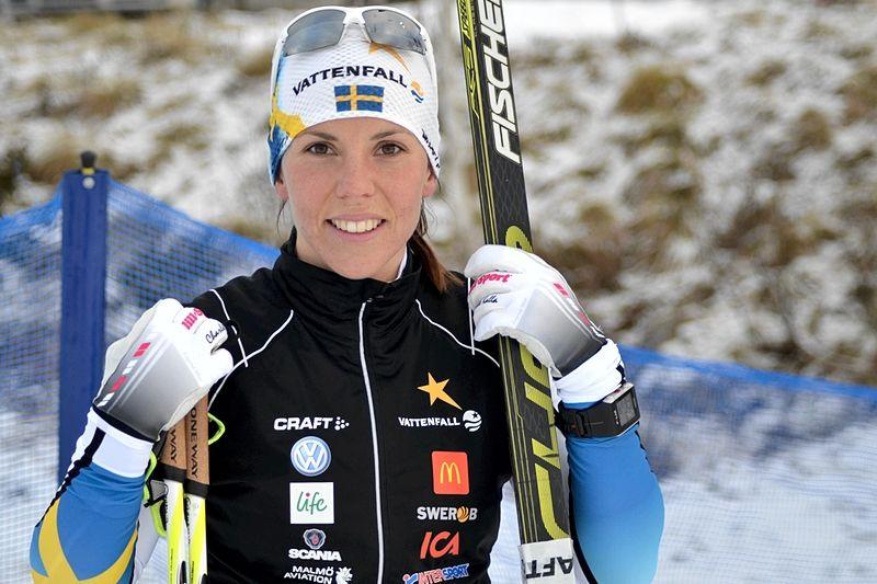 Charlotte Kalla åker Skandinaviska cupen i Lillehammer i helgen. FOTO: Johan Trygg/Längd.se.