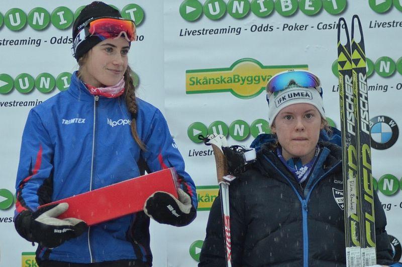 Ebba Andersson och Elina Rönnlund är två av de svenska åkarna till junior-VM i Almaty, Kazakstan. FOTO: Johan Trygg/Längd.se.