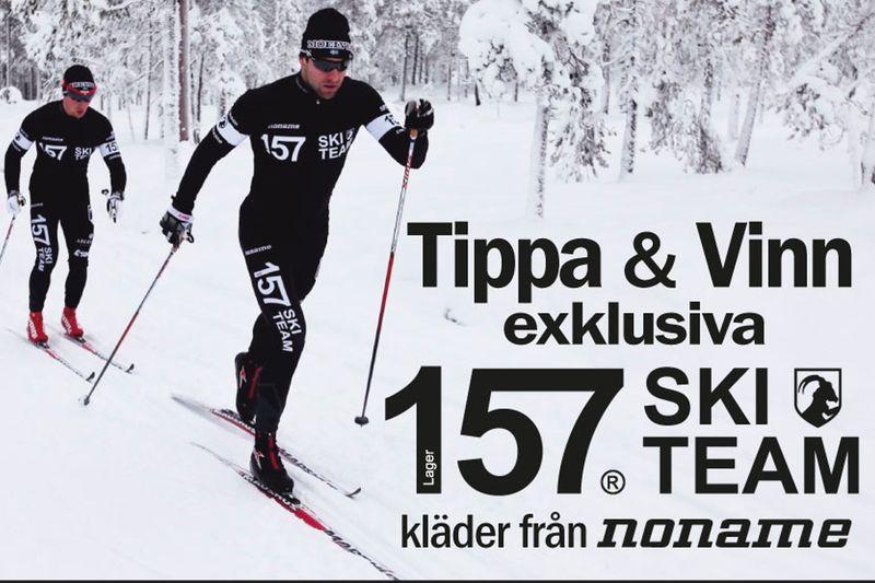Ta chansen och vinn Lager 157 Ski Team-kläder och far fram i spåret som Jörgen Brink och Marcus Johansson (bilden) och de övriga åkarna i Lager 157 Ski Team. FOTO: noname.