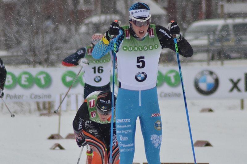 Carl Quicklund  var snabbast i Daniel Karlssons minne på torsdagskvällen i Östersund. Här är Carl vid Bruksvallarnas sprint häromveckan. FOTO: Johan Trygg/Längd.se.